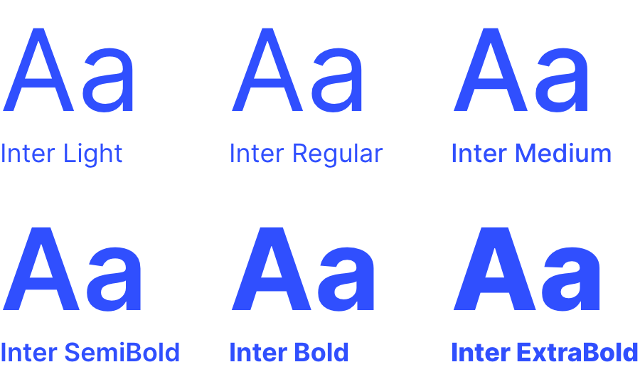 Inter Font Typography examples